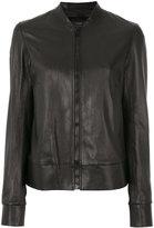 Joseph zipped jacket - women - Cotton/Lamb Skin/Spandex/Elastane - 36