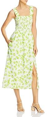 WAYF Rashida Smocked Midi Dress