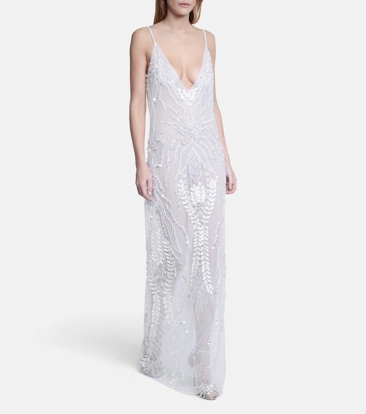 Thumbnail for your product : Rodarte Bridal embellished tulle gown