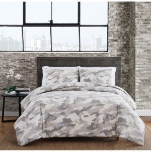 Sean John Garment Washed Camo King Duvet Set Bedding