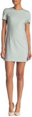 Theory Jatinn Wool Blend Short Sleeve Dress
