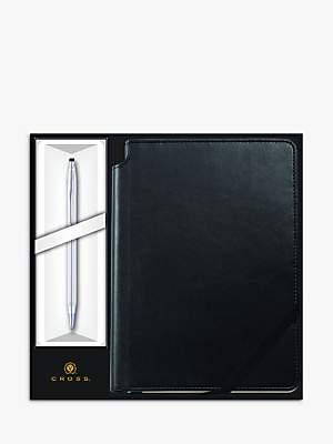 Cross Classic Century Chrome Ballpoint Pen with Black Journal