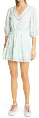 LoveShackFancy Adley Lace Minidress