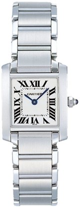 Cartier Tank Francaise Small Stainless Steel Bracelet Watch