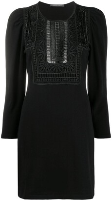 Alberta Ferretti Lace Knit Dress