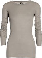 Rick Owens Long-sleeved jersey T-shirt