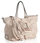 light pink leather rosette tote