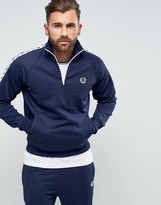 Fred Perry Sports Authentic Slim Fit Half Zip Track Jacket Navy