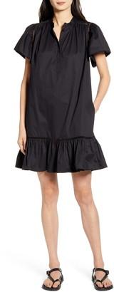 Rebecca Minkoff Natalia Ruffle Hem Cotton Shift Dress