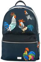 Dolce & Gabbana Volcano rooster print backpack