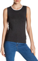 Susina Sleeveless Crew Neck Sweater