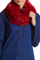 Steve Madden Shaggy Faux Fur Cowl Neck Infinity Scarf