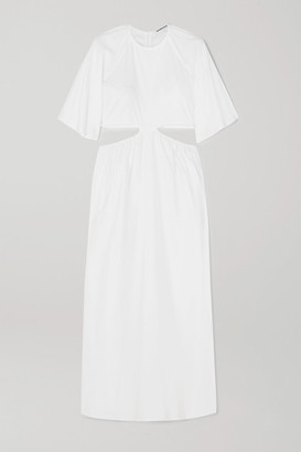 Georgia Alice Milan Cutout Cotton-poplin Maxi Dress - White