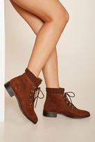 Forever 21 FOREVER 21+ Faux Suede Lace-Up Boots