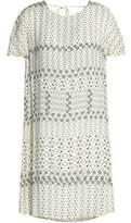 Velvet by Graham & Spencer Cape-Effect Printed Poplin Mini Dress