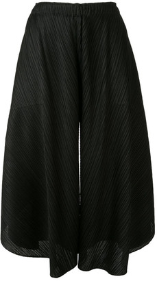 Pleats Please Issey Miyake Curved Trousers