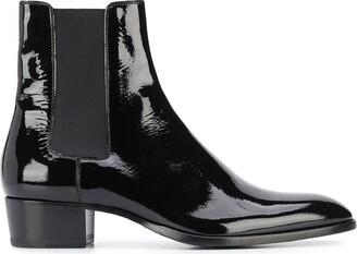 Saint Laurent mid-heel Chelsea boots