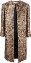 Lanvin jacquard coat - women - Polyamide/Polyester/Acetate/Wool - 42