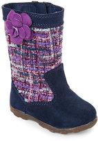 Stride Rite Infant Girls) Navy Mira Tweed Boots