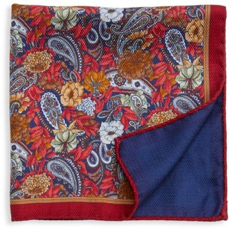 Saks Fifth Avenue COLLECTION Wild Flower Silk Pocket Square