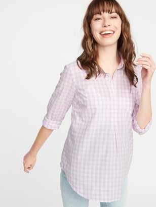 Old Navy Maternity Gingham Popover Shirt