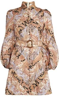 Zimmermann Botanica Chevron Mini Dress