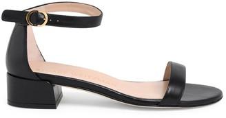 Stuart Weitzman Black Nudist June Sandals