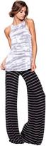 Saint Grace Moby Stripe Carol Pant In Black White