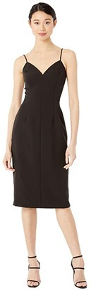 Milly Cady Sandra Mini Dress (Black) Women's Clothing