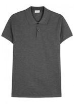 Saint Laurent Grey Piqué Cotton Polo Shirt