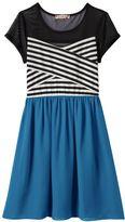 Speechless Girls 7-16 & Plus Size Illusion Striped Dress
