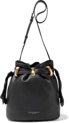 Donna Karan Virginia Pebbled-leather Bucket Bag