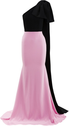 Alex Perry Anderson Two-Tone Crepe Gown
