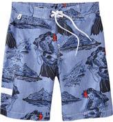 Old Navy Men's Tropical Hybrid-Waist Board Shorts