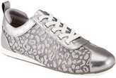 Taryn Rose Collection Silva Metallic Leopard Lace-Up Sneakers