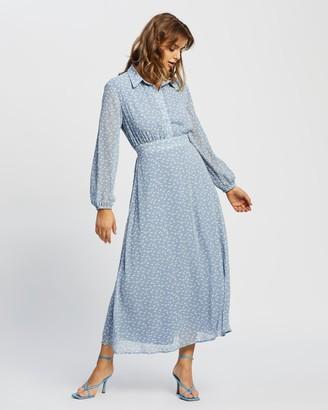 Atmos & Here Atmos&Here - Women's Blue Maxi dresses - Atlanta Midi Dress - Size 6 at The Iconic