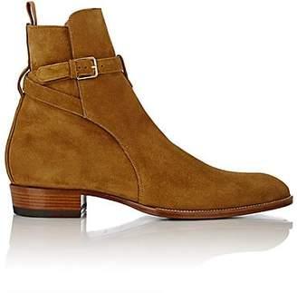 Saint Laurent Men's Hedi Suede Jodhpur Boots - Beige, Tan
