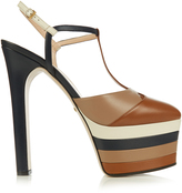 Gucci Angel leather striped platform sandals