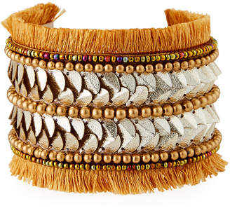 Panacea Fringe Disk Cuff Bracelet