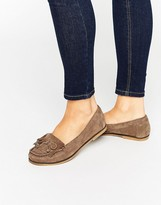 Carvela Mock Moccasin Suede Flat Shoes