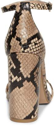 Steve Madden Carrson Heeled Sandals - Snake Print