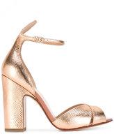 Francesco Russo textured sandals - women - Leather - 37.5