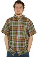 Stanley Men's Classic-Fit Madras Plaid Casual Button-Down Shirt
