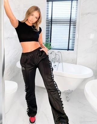 Kappa wastoria popper pants in black