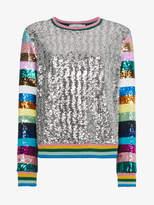 Mary Katrantzou Magpie Sequin Embellished Top