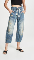 Free People In My Time Denim Cargo Jeans