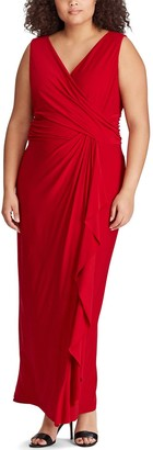 Chaps Plus Size Ruffled Evening Gown