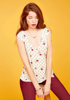 A Bold Soul Tank Top Ivory Floral in 1X