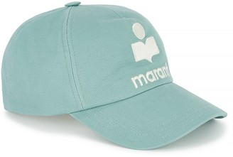 Etoile Isabel Marant Duck egg blue logo-embroidered twill cap