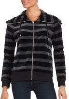 Calvin Klein Striped Velour Jacket